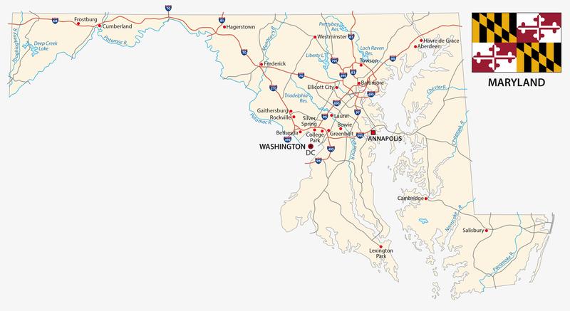 Annapolis MD City Map Porta Potty Rentals